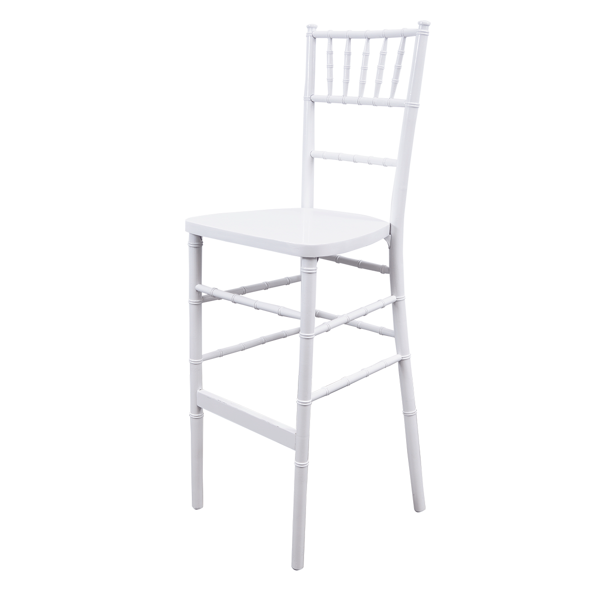 Barhocker, Chiavari, Holz, weiß, mit Sitzkissen