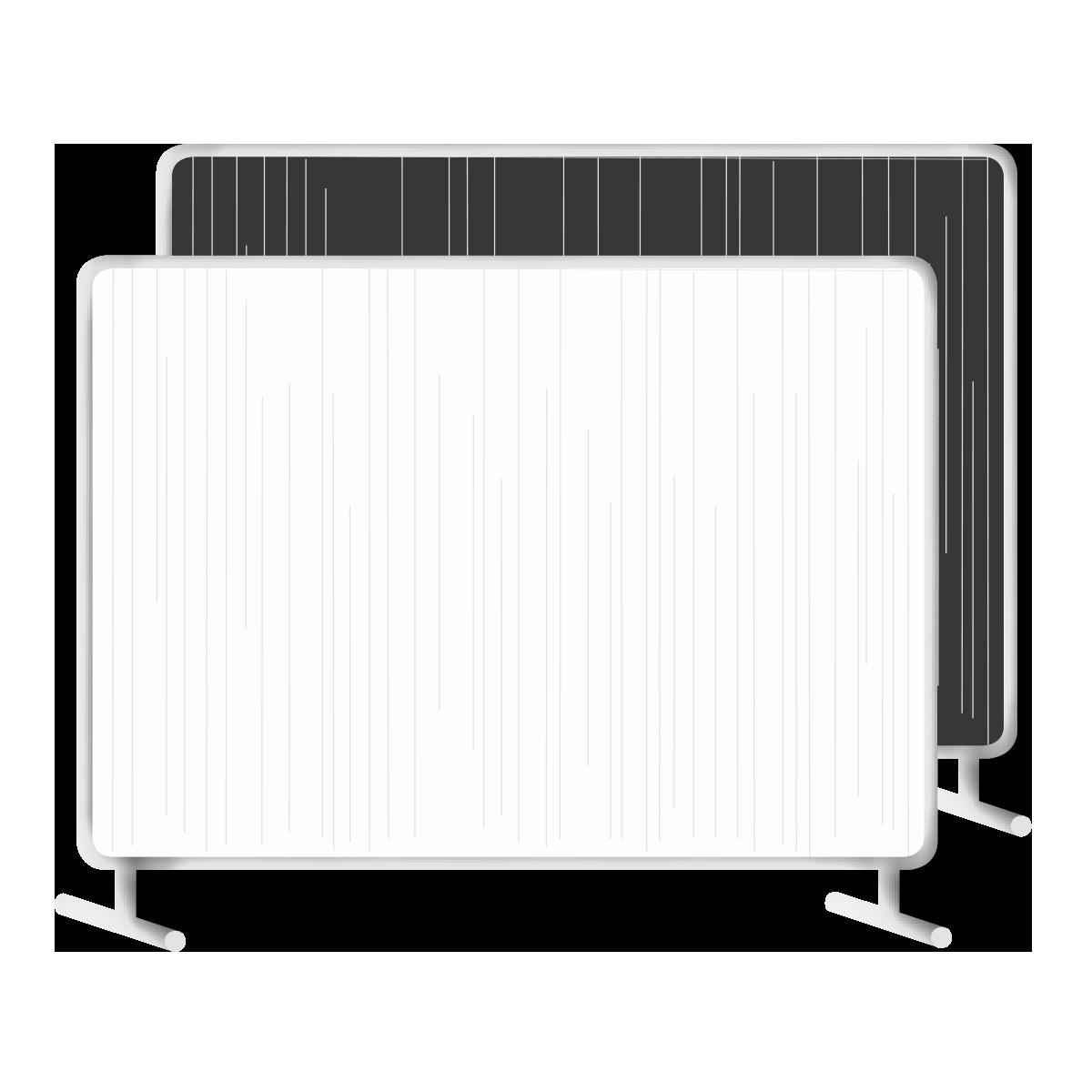 Paravante, 2300 x 5300 cm, schwarz Molton