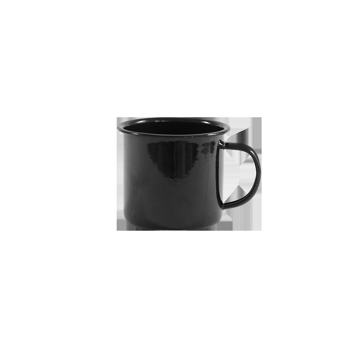 Emaille-Kaffeetasse schwarz