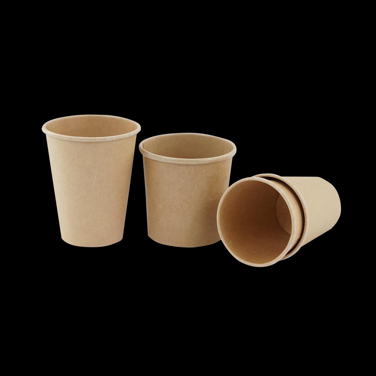 Becher weiß 200 ml, Kaffeebecker braun 300 ml