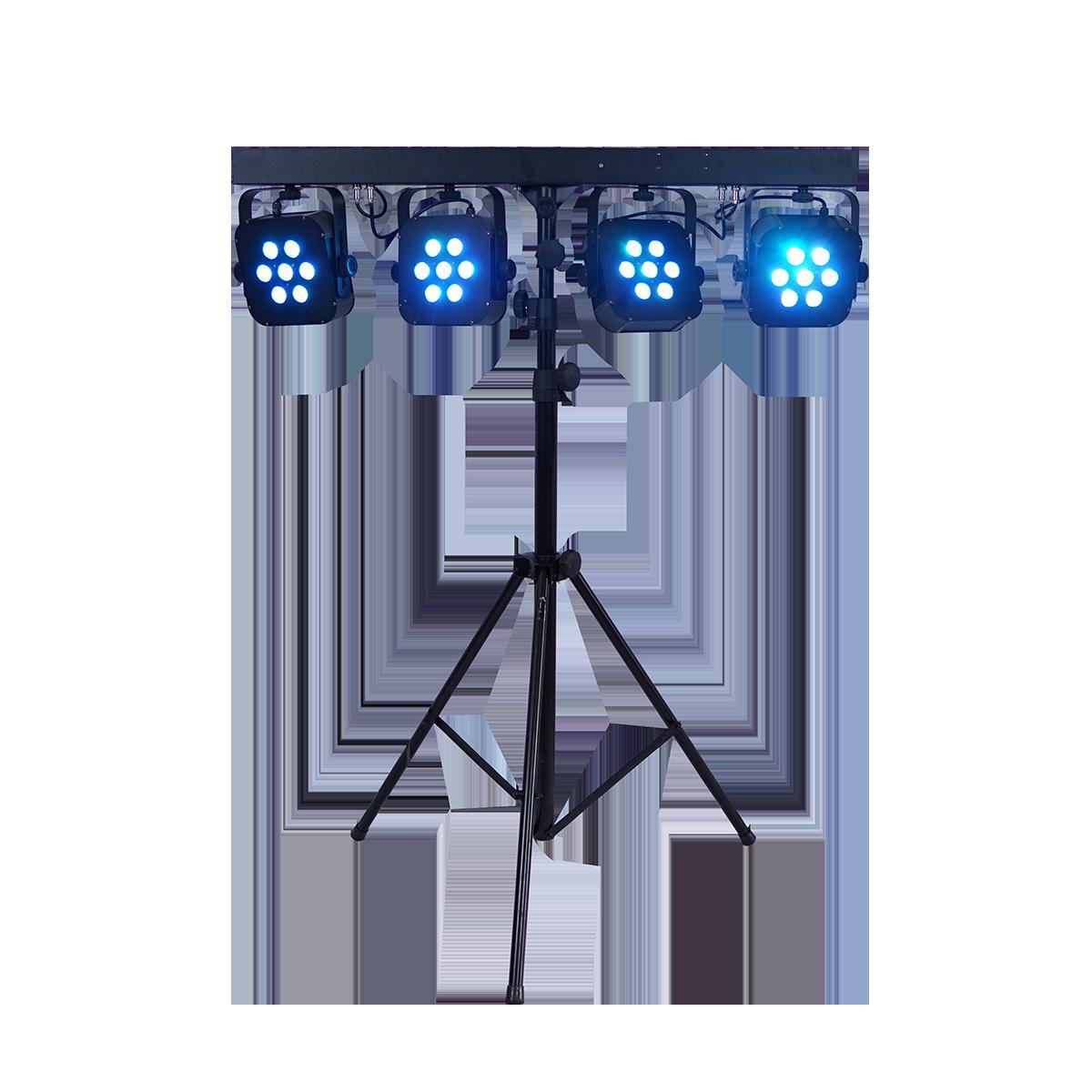LED Zeltbeleuchtung auf Stativ, 4-er Bar