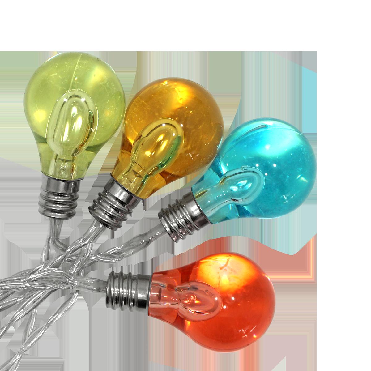 Lichterkette 15 m mit Edison Lampen