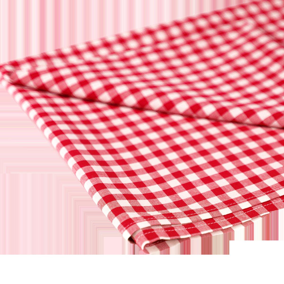 Tischdecke karriert 1 x 1, rot - weiß, 1.30 x 2.80 m