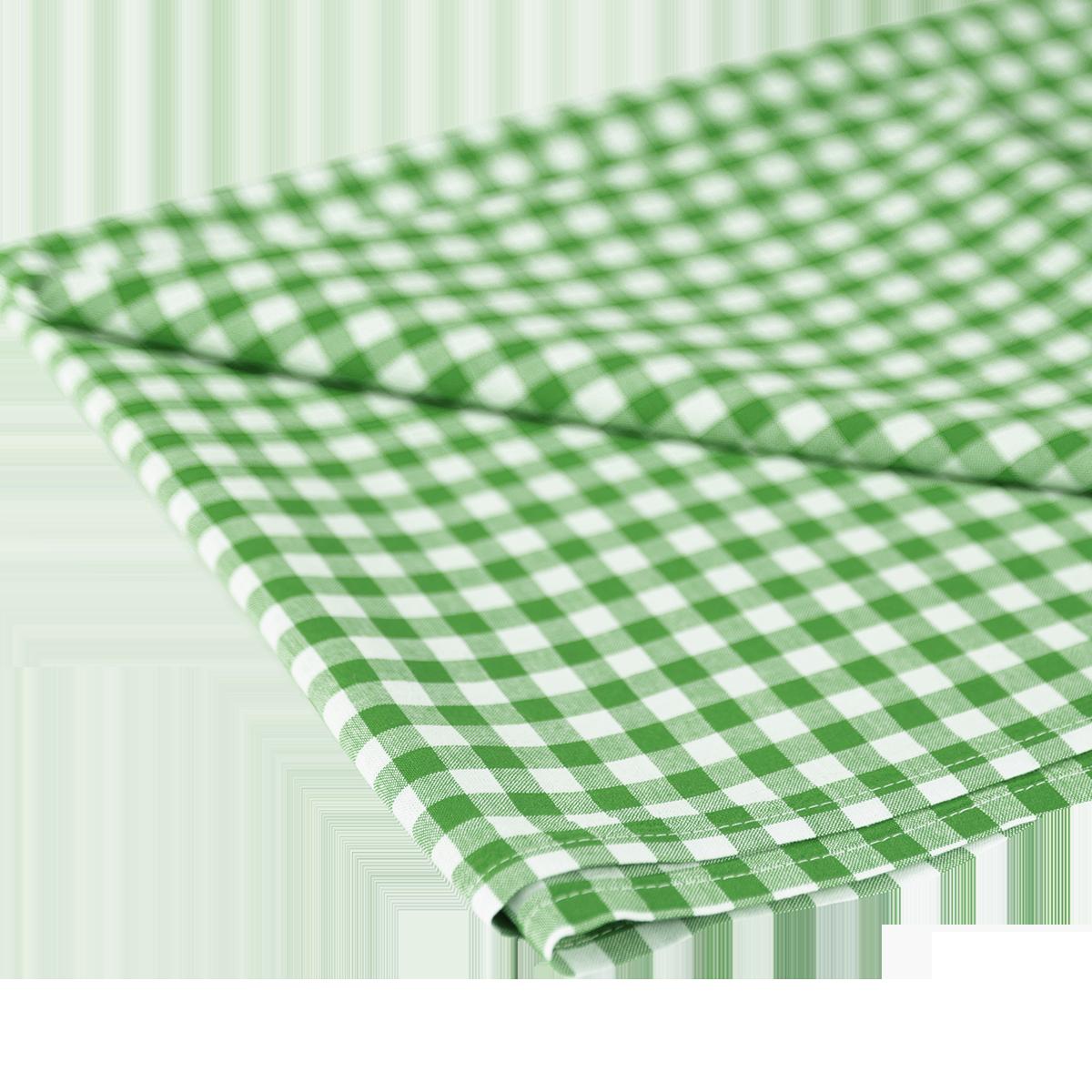 Tischdecke, kariert 1 x 1, grün-weiß, 1.30 m x 2.80 m