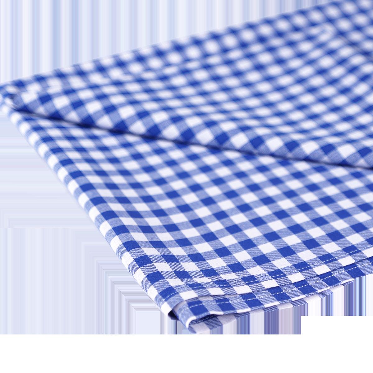 Tischdecke karriert 1 x 1, blau - weiß, 1.30 x 2.80 m