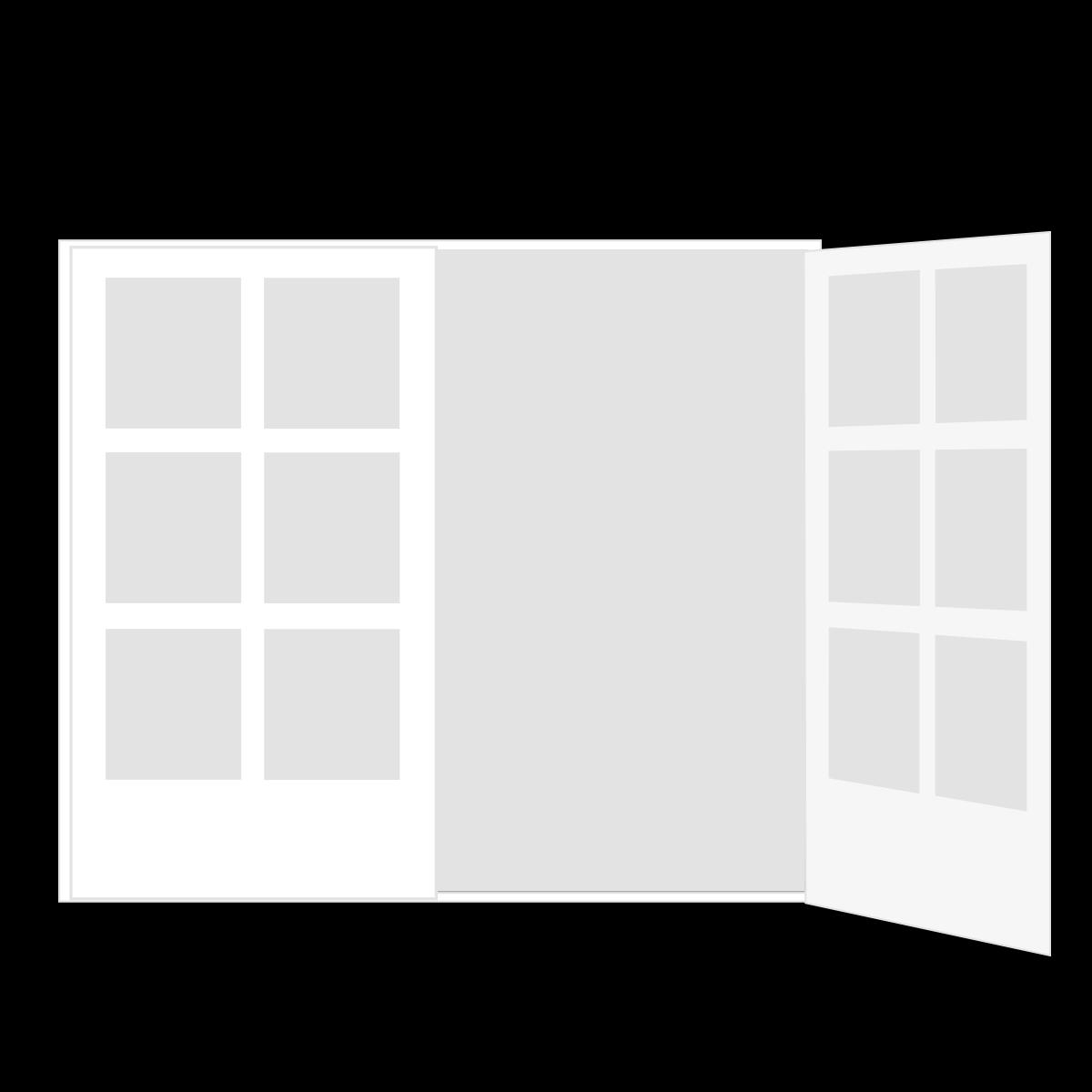 Doppeltür, 1.8 x 2 m, inkl. Ein- und Ausbau, weiß